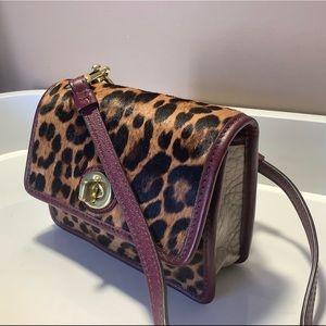 COACH LegacyOcelot Leopard Haircalf Mini Swing bag